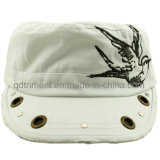 Grinding Washed Grommet Rivet Decoration Embroidery Leisure Military Cap (CSCMCM9447)