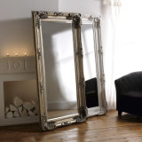 Large Wall Decoratvie Baroque Carved Gold Floor Wooden Mirror Frame