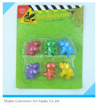 56g 6PCS 3D Plastic Crayons for Students and Kids