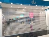 Commercial Shop Transparent Polycarbonate (PC) Rolling Shutter Door/ Roller Shutter Curtain