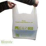 New Custom Design Wholesale Cheap Eco-Friendly Bags Corn Base Compostable Shopping Bag