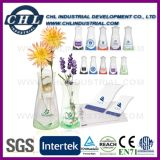 Reusable Logo Printing Plastic Foldable Vase for Flower Decoration