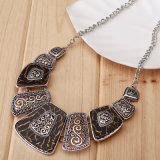 Ethnic Collares Vintage Silver Bead Pendant Statement Necklace for Women