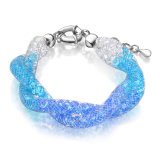 Gemstone Bracelet Graduated Color Crystal White Gold Jewelry Bracelet
