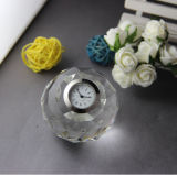 Ball Crystal Desk Clock for Business Gifts (KS06040)