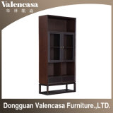 Wooden Bookcase with Leather Furniture