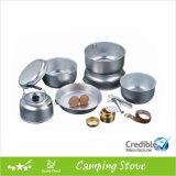 Aluminum Camping Cookware Set with Alcohol Burner