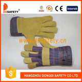Gold China Supplier Wholesale Pig Split Leather Wooding Work Gloves
