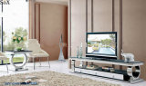 Modern Home Furniture Glass Top TV Stand Living Room Furniture Set