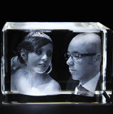 3D Laser Engraving Crystal Blank Engraved Cube for Decoration