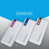 Colorful LED Mobile Power Bank 6000mAh with 3USB Promotion Gifts
