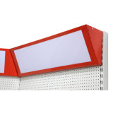 Single Side Supermarket Metal Island Pegboard Gondola Shelf