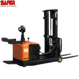 1.5 Ton 2tons Electric Reach Stacker Forklift Truck Narrow Aisle Double Mast Price