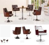 Round Metal Base Wooden Back Bar Chair Modern Furniture (UL-JT523)