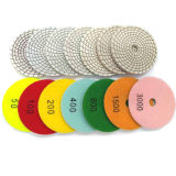 4 Inch Diamond Spiral Wet Flexible Polishing Pad