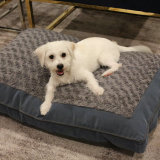 Pet Product Plush Dog Bed Cat Mattress Mat Bed