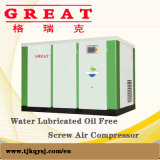High Reliability Low Noise 10bar 90kw 120HP Water Lubricated 3 Phase AC Power Permanet Magnet Variable Speed Drive Oil Free Single Screw Air Compressor