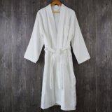 Cheap Velour White Kimono Collar Luxury Hotel 100% Cotton Bathrobe