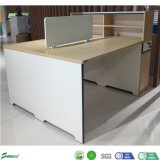 Fashionable MDF Furniture 2 Seats Cheap Office Workstation