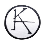 Custom White and Black Fashion Embroidery Iron on Patches Design