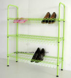 Cheap Powder Coating 3 Tier DIY Metal Storage Shoe Rack