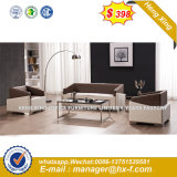 Modern Genuine Leather Office Sofa with Wood (HX-S303)