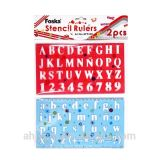 Foska Good Quality Plastic Stencil Ruler for Kids