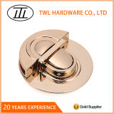 Round Shinny Light Gold Hardware Lock for Handbags Accessories Lock