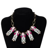 New Fashion Bohemian Multicolor Stones Women Necklace Artificial Jewelry