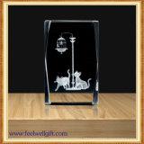 Custom Crystal Glass Trophy Animal