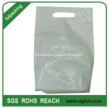 White Side Sealing Die Cut Polybag Plastic Shopping Handbag