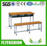 School Furniture Double Student Desk and Chair (SF-47D)