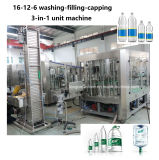 16-12-6 Bottle Water Bottling Washing Filling Capping 3-in-1 Labeling Wrapping Machine