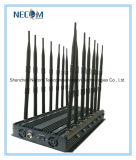 GSM Jammer/GPS Jammer /Cell Phone Jammer, Desktop Jammer for GSM, CDMA 3G, 4G Cellphone, Car Remote Control 433/315MHz Jammer with 14 Antennas