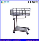 Hospital Use Stainless Steel Bedside New Born Infant Baby Bed/Trolley/Cot