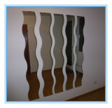High Quality Wave Shape Silver Mirror for Wall Decoration in Customer Size
