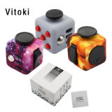 Hand Spinner Fidget Cube with Button Anti Irritability Toy Stress Relief for Adults and Children Fidget Vinyl Desk Toy