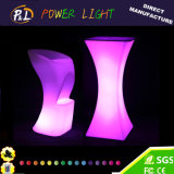 RGB Rechargeable Plastic Bar Furniture LED Stool