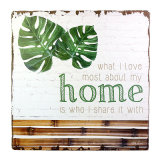 Home Plaque Block Love Sign Board Wall Hanging Home Decoration Arts