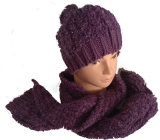 Ladies Flashing Knitted Scarves & Hats for Winter