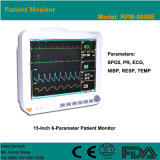 CE Approved 15-Inch 6-Parameter Patient Monitor (RPM-9000E) -Fanny