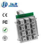 Metal Keyboard with 12 Keys for Prison Telephone, Armored Keyboard for Telephone