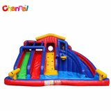 Colorful Backyard Inflatable Water Slide Commercial Inflatable Slide Pool