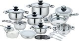 21 Pieces Stainless Steel Wide Edge Cookware