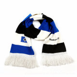 Custom Design Acrylic Winter Knit Football Soccer Fans Knitted Scarf