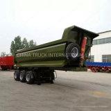 Green Color Hyva Hydraulic Cylinder Bulk Cargo Transportation 3 Axle Tipper Semi Trailer Price