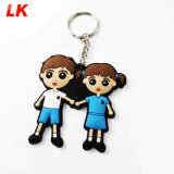 Wholesale Promotional Promotion Souvenir Gifts Custom Design Advertising 3D 2D Logo Soft PVC Silicon OEM Logo Silicone Rubber Plastic Keyring Keychain Maker