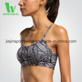 Factory Competitive Price Hot Sexy Sport Sports Bra with Triangle Mesh on The Back