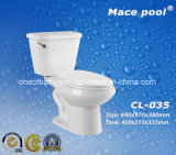 Two-Piece Type Ceramic Toilets Water Closets (CL-035)