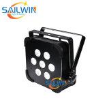 Cheap Sailwin Stage Light 7*18W 6in1 Rgbaw UV LED Flat PAR Light